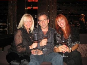 Audrey Hagen, Adam Gilad, Lynn Pierce in M Resort's Wine Cellar